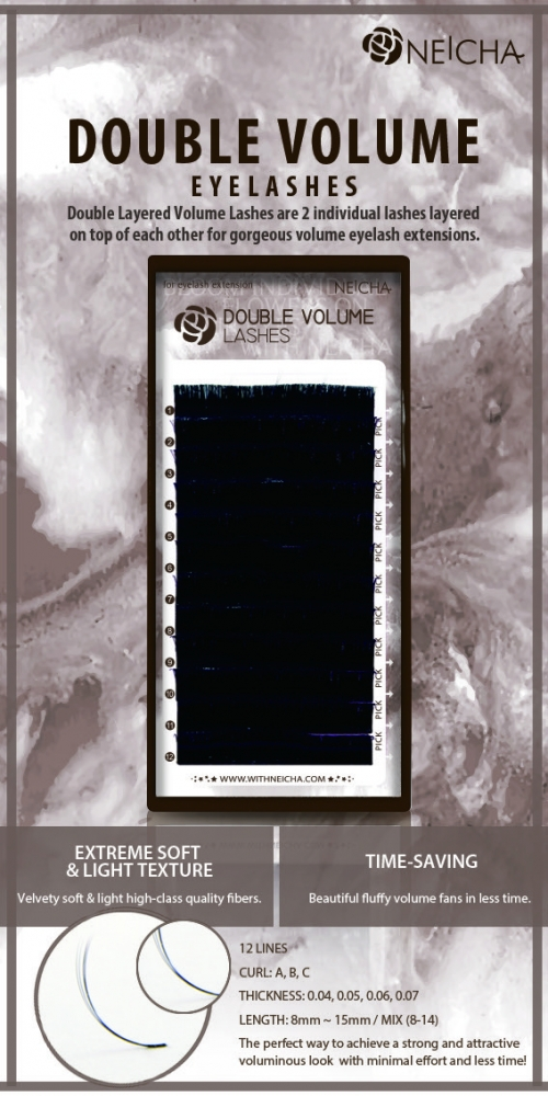 DOUBLE VOLUME LASHES B 0,05